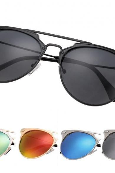 New Fashion Women's European Style Sunglasses Metal Frame Big Lens Eyewear Shades Glasses