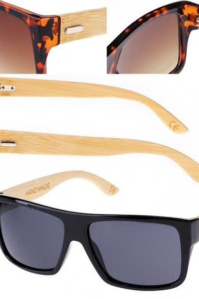 New Hot Bamboo Legs Eyewear Eyeglasses Fashion Vintage Style Sunglasses