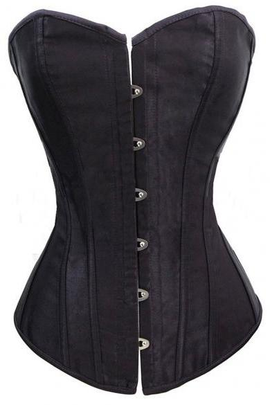 New Elastic New Sexy Lace Up Women Corset Top Bustier Faux Leather Corsets Body Shaper HOT