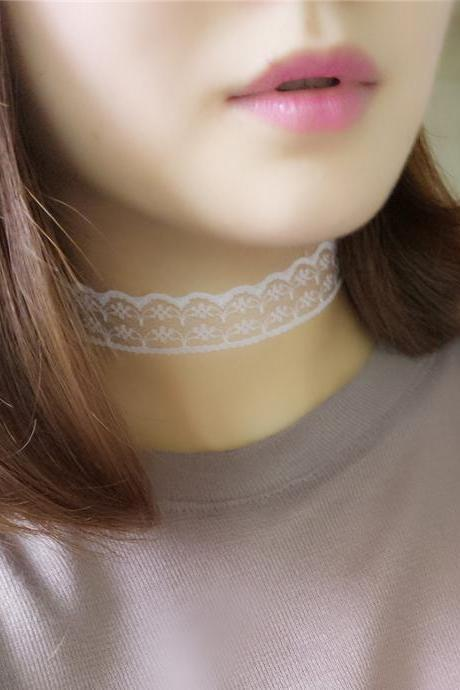 Sexy Joker Lace Choker Necklace