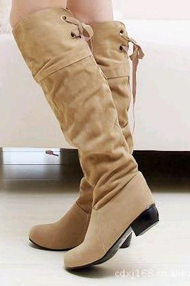 Casual Style Suede Tall Canister Boots
