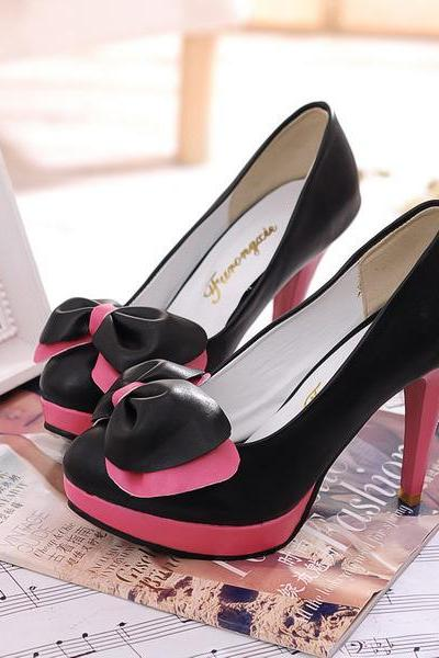 Candy Color Bowknot Lovely Shallow Shoes