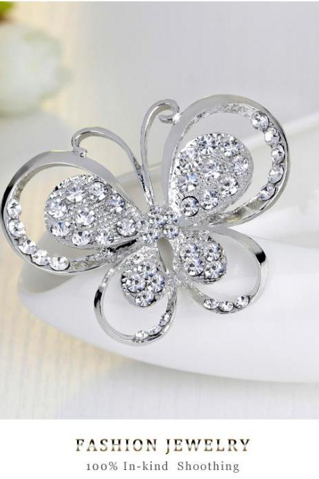 Fashion butterfly alloy Brooch