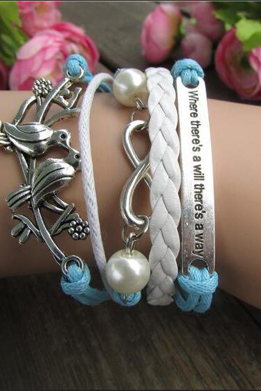 Retro Dove Fashionable Beautiful Hand-made Bracelet