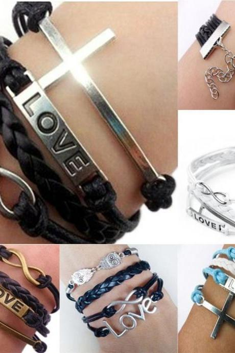 Hot Sale Retro LOVE Multilayer Woven Bracelet