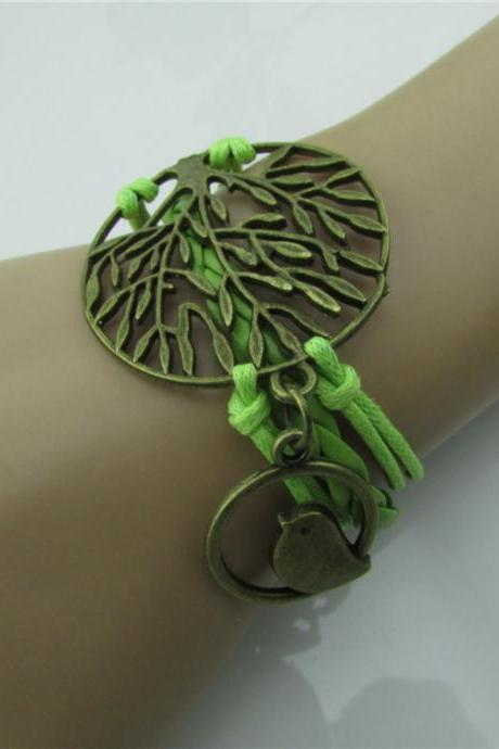 Tree of Life Bird Handmade Bracelet