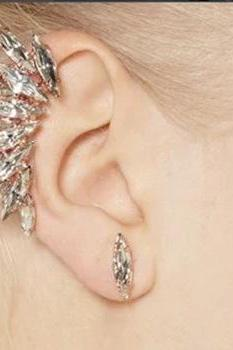 Exaggerate Crystal Ear Clip Earrings