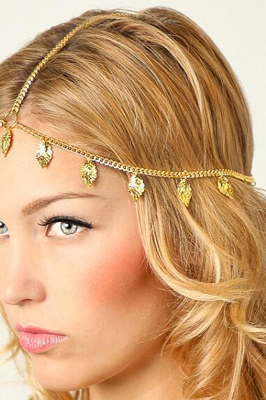 Beautiful Leaves Tassel Chain Hair Accessories