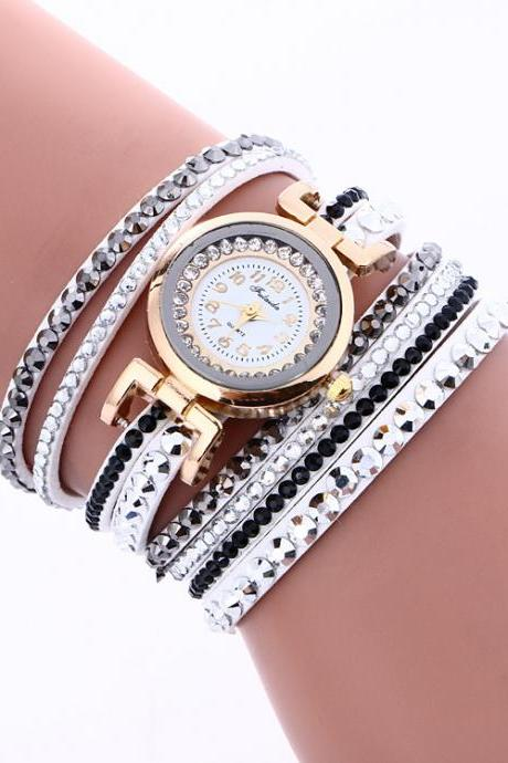Korean Style Crystal Strap Watch