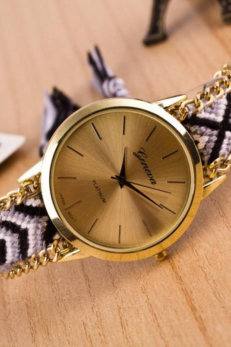 National Style Woven DIY Watch