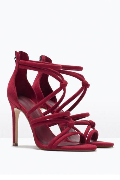 Sexy Bandage Roman High-Heeled Sandals