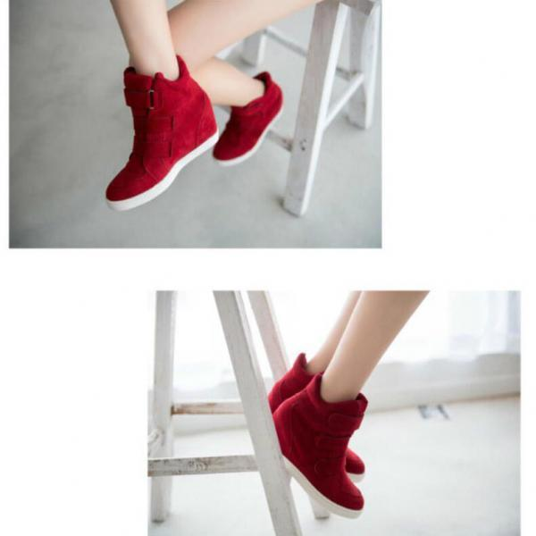 Scrub Patchwork Flat Round Toe Short Boots