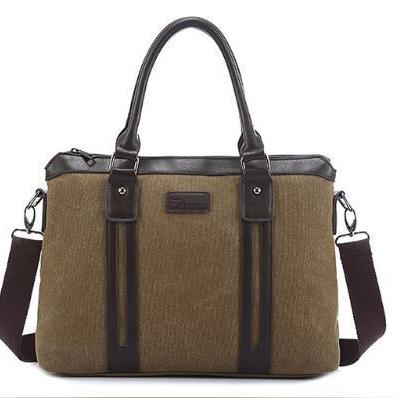 Retro Style Canvas Rivet Men Bag
