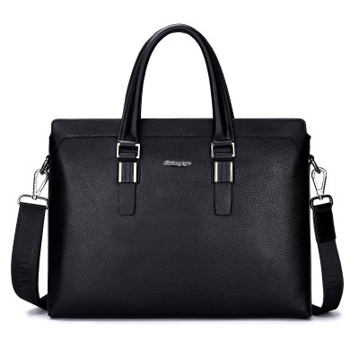 High-quality Letter Color Block Men Handbag