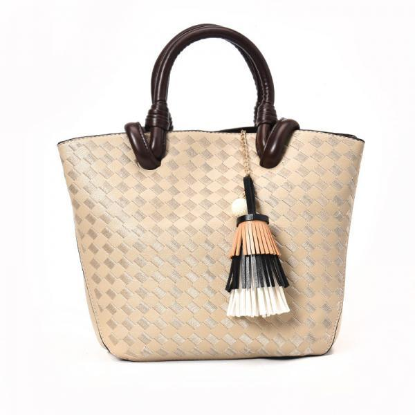 Simplicity Knitted Pattern Women Tote Bag