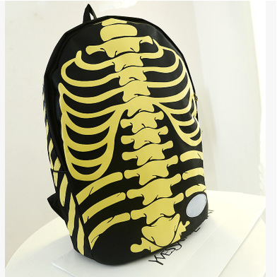 Casual Pirate Skull Printing Unisex Backpack