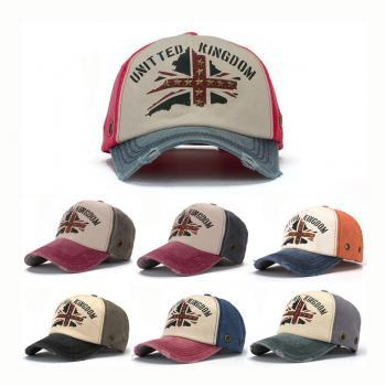 Korean Style Stitching Color Summer Unisex Cap Baseball Hat