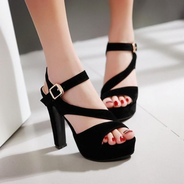 High Heels Suede Platform Prom Party Sandals