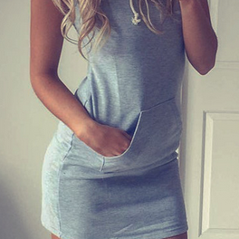 Sleeveless Bodycon Hat-with Short Dress