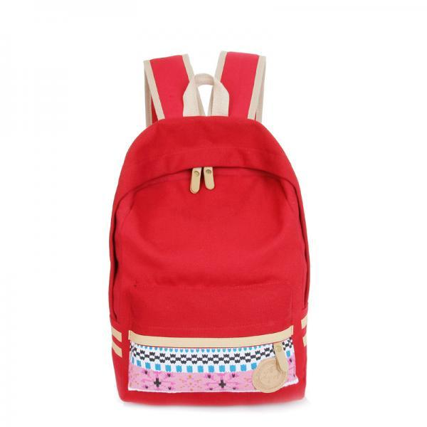 Fashion Street Style Print School Backpack Canvas Bag