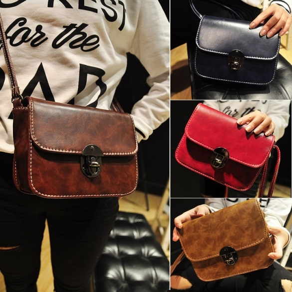 New Fashion Women Vintage Style Fashion Shoulder Bag Retro Adjustable Strap Cross Bag