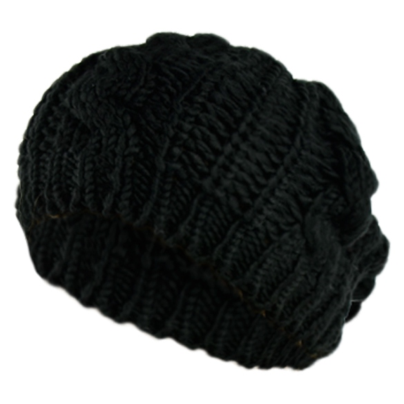 Winter Women Beret Braided Baggy Beanie Crochet Hat Ski Cap