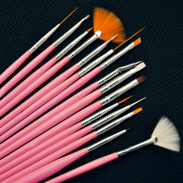 15pcs Professional Nail Art Brush Set Design Painting Pen