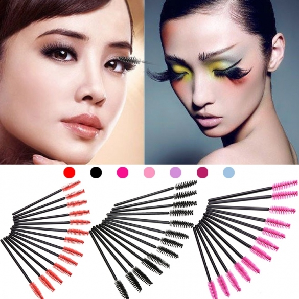 New 50PCS Disposable Eyelash Brush Applicator Makeup Cosmetic Tool For Lady