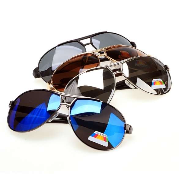 Fashion Men Aviator Polarized Outdoor Driving Sunglasses Eyewear Metal Frame Sun Glasses