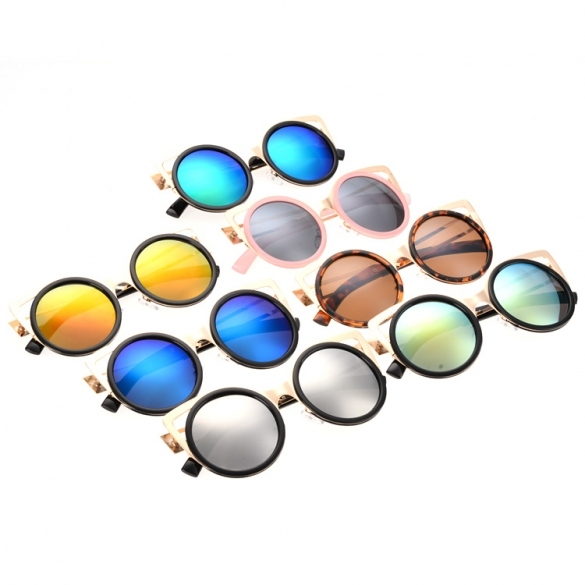 Hot Fashion Lady Women's Retro Charming Round Lens Hollow Out Full Frame Sunglasses