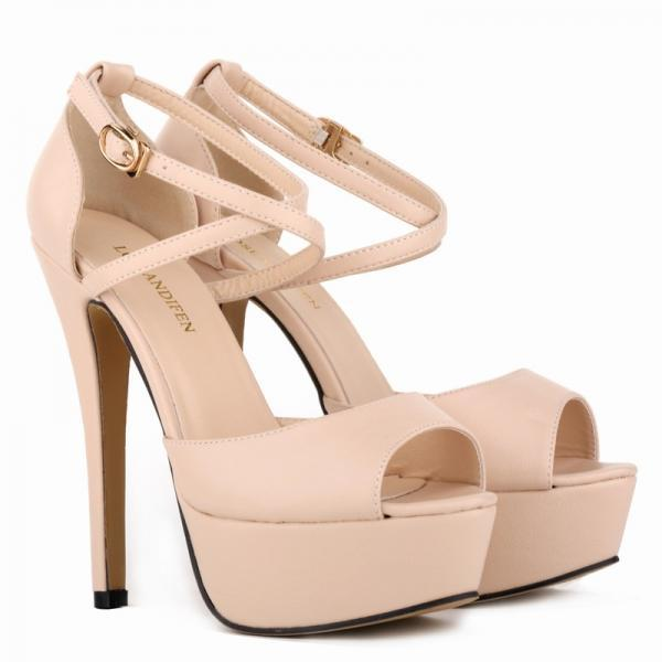 Sexy Nightclub Matte Cross Strap Women's Sandals