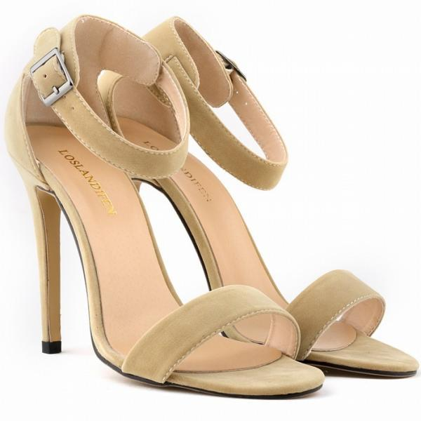 Sexy Suede High Heel Peep-Toe Sandals