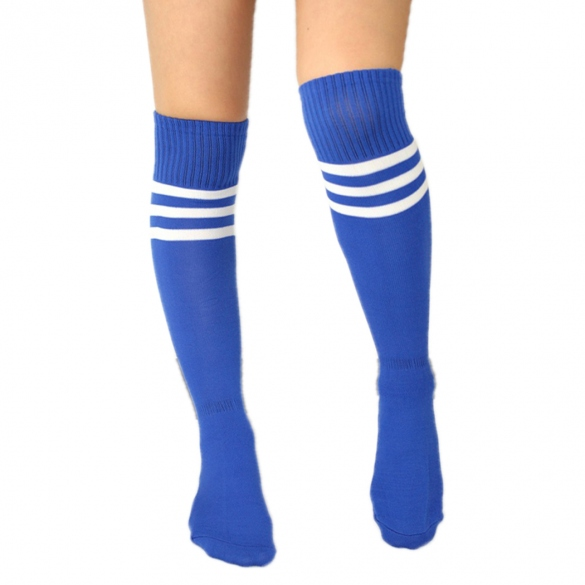 Pure Color Knee High Stripe Tube Sock