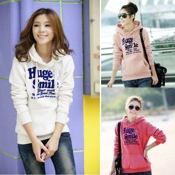 New Korean Thick Hooded Sweater Pullover Hoodie Jacket Women Spring And Autumn