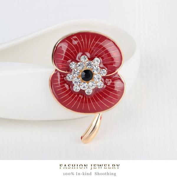 AONISI Beautiful Rose Brooch