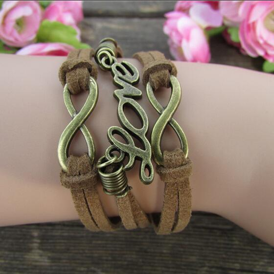 Fashion Brown Love Multilayer Bracelet