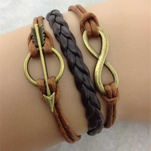 Retro Arrow Multielement Woven Bracelet