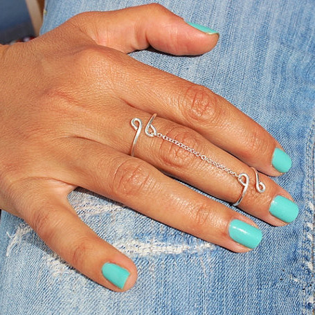 Lucky 8 Tassels Multi-Finger Ring