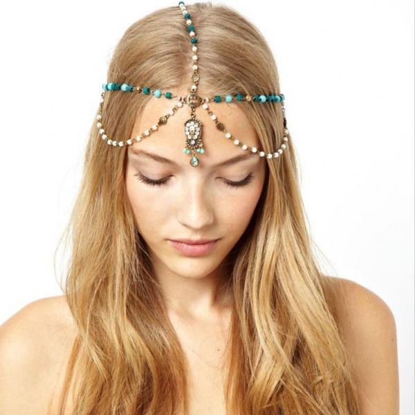 Bohemia Tophus Pearl Drop Hair Accessories