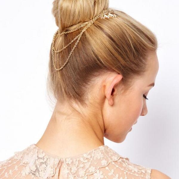 Beautiful Leaf Chain Tassel Hair Accessories
