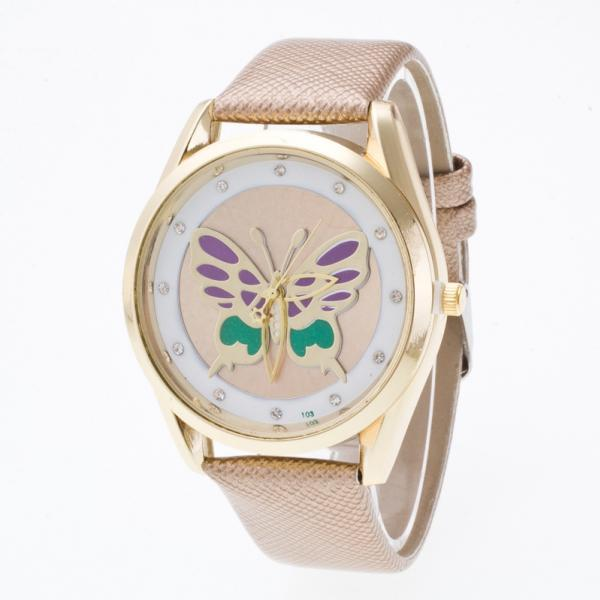 3D Butterfly Crystal PU Watch