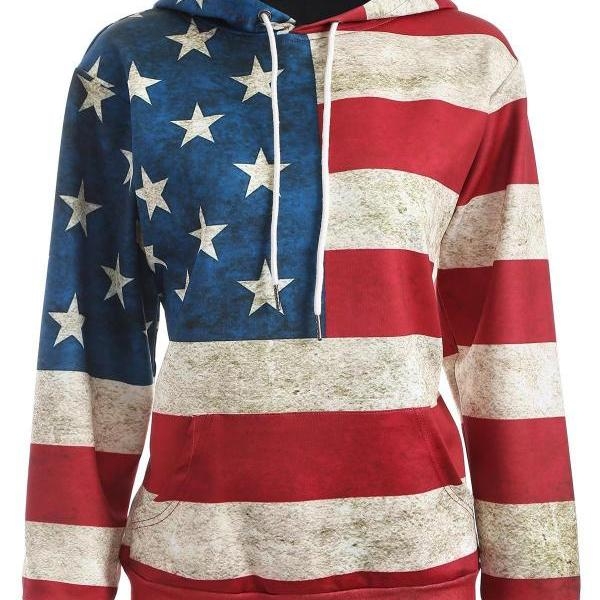 The Flag Of United States 3D Digital Printing Hoodie